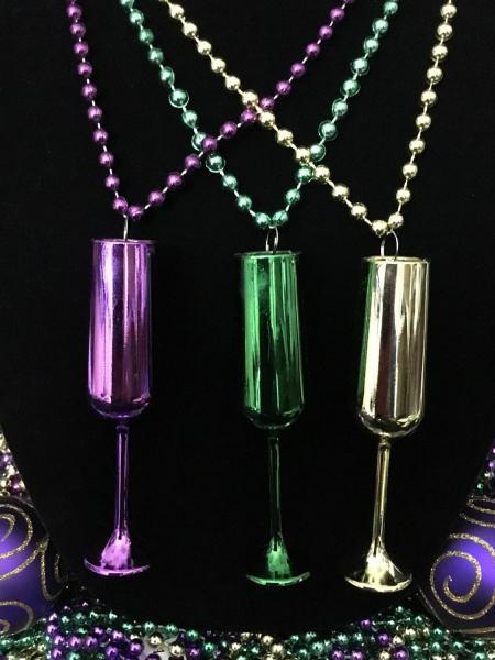 Multi-colored Champagne Flutes