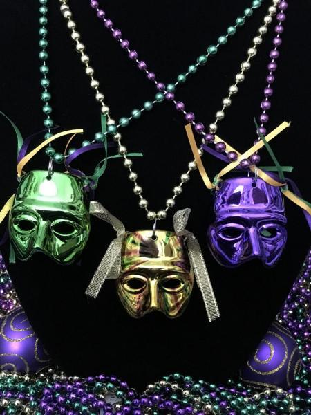 Tri-colored Party Masks One Dozen