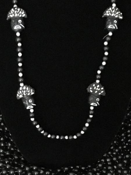Black & White Beads with Zulu Masks