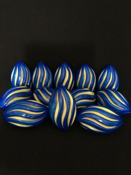 Blue & Gold Spiral Footballs