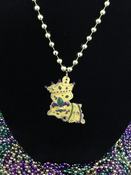 Louisiana State Bead with Fleur de lis